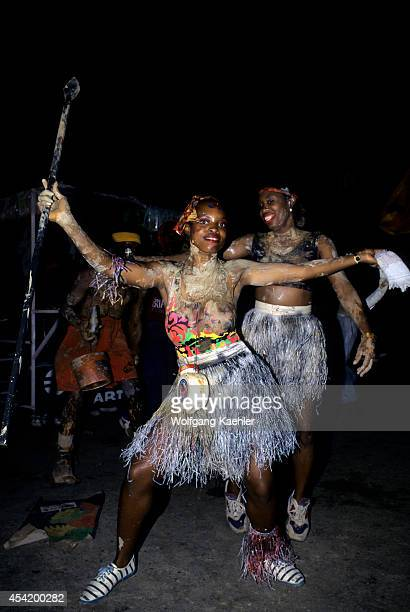 Trinidad Port Of Spain J'ouvert Ju Vay Celebration Carnival Opening At Night Muddy People
