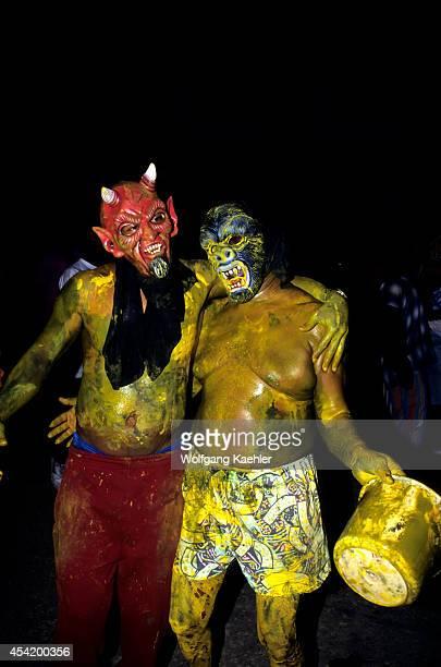 Trinidad Port Of Spain J'ouvert Ju Vay Celebration Carnival Opening People With Masks