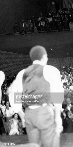 Trinidadianborn American Civil Rights activist Stokely Carmichael at Morgan University Baltimore Maryland January 28 1967