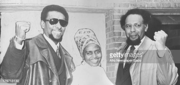 Trinidadianborn American Civil Rights activist Stokely Carmichael is shown with friends 1968