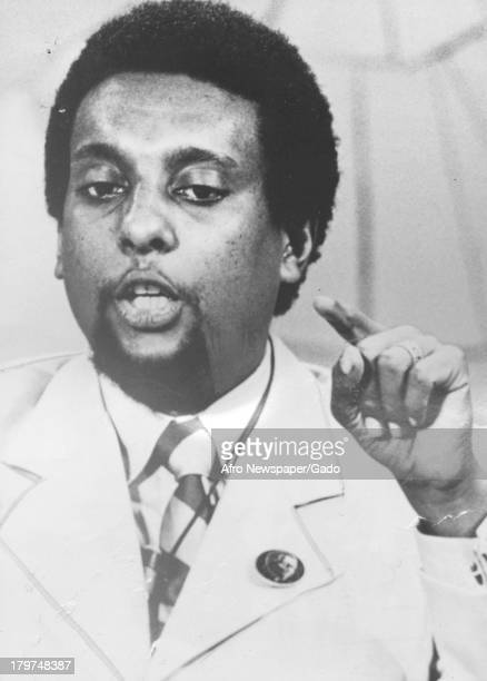 Trinidadianborn American Civil Rights activist Stokely Carmichael is speaking 1967