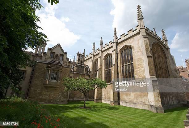 Trinity College and Newtons Apple Tree, Cambridge.