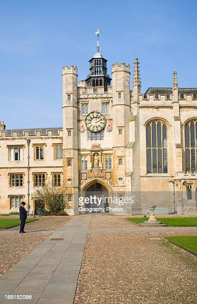 Trinity College chapel entrance University of Cambridge Cambridgeshire England