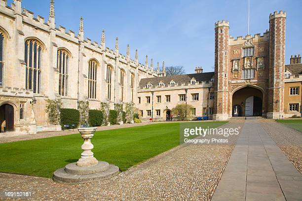 Trinity College courtyard University of Cambridge Cambridgeshire England