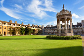 Trinity College is the largest of the colleges in Cambridge University. The college was founded in 1546 by Henry VIII.