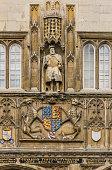 Trinity College, statue of Henry VIII