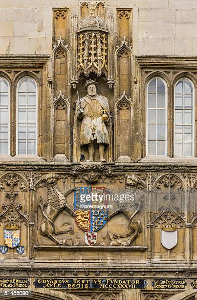 Trinity College, statue of Henry VIII
