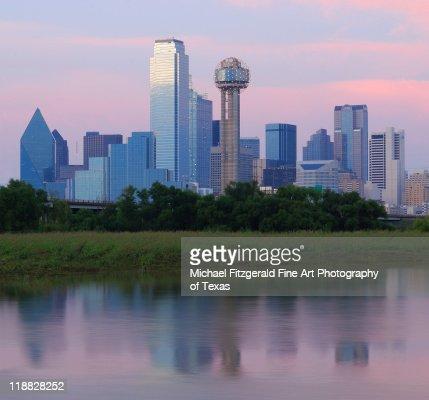 Trinity river with skyline, Dallas