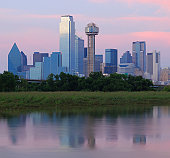 Trinity river with skyline, Dallas