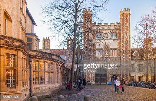 Trinity street with college view, Cambridge : Stock Photo