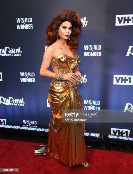 Trinity Taylor attends RuPaul's Drag Race Season 9 finale party on June 23 2017 in New York / AFP PHOTO / ANGELA WEISS