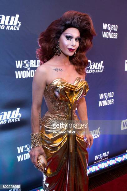 Trinity Taylor attends 'RuPaul's Drag Race' Season 9 Finale Viewing Party at Stage 48 on June 23 2017 in New York City