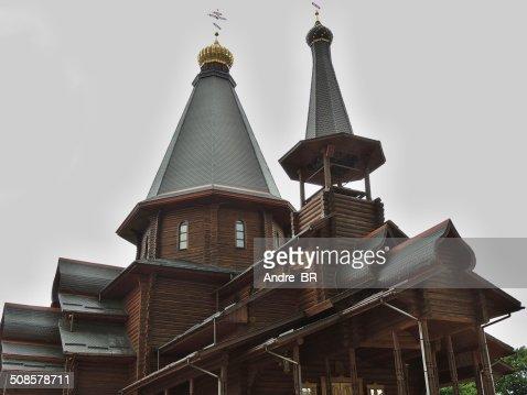 Trinity wooden Church of Minsk. : Stock Photo