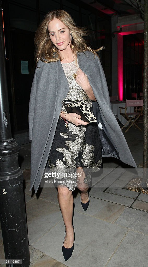 <a gi-track='captionPersonalityLinkClicked' href=/galleries/search?phrase=Trinny+Woodall&family=editorial&specificpeople=206518 ng-click='$event.stopPropagation()'>Trinny Woodall</a> at the Downtown Mayfair restaurant for Heather Kerzner's birthday celebration on March 19, 2013 in London, England.