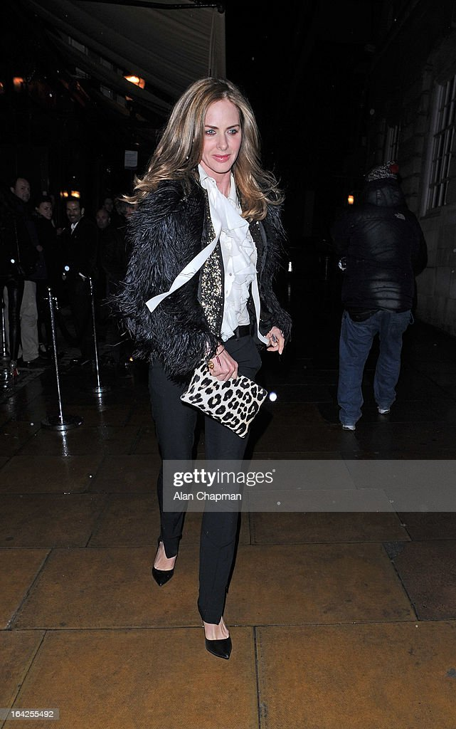 Trinny Woodall sighting leaving Loulou's on March 21, 2013 in London, England.