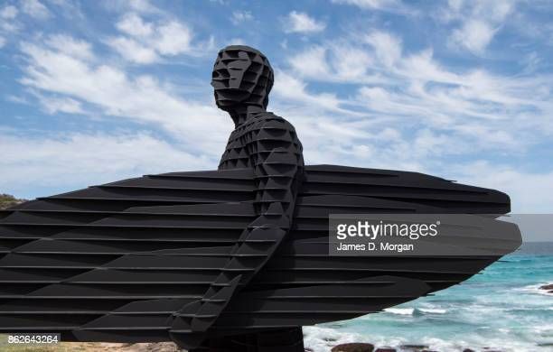 'trip 1 Trip 2 Trip 3' by April Pine at Sculpture By The Sea on October 18 2017 in Sydney Australia The annual art event draws tens of thousands of...