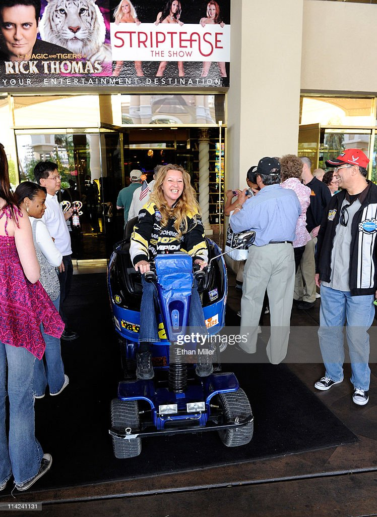 Trip Barrios of Nevada rides her scooter out of the Sahara Hotel & Casino for the last time shortly before the property was closed on May 16, 2011 in Las Vegas, Nevada. Barrios said she regularly rode her scooter to the resort's NASCAR Cafe. The Sahara's current owner SBE Entertainment Group closed the 1,720-room resort, which first opened in 1952, and plans to redevelop the site in the future.