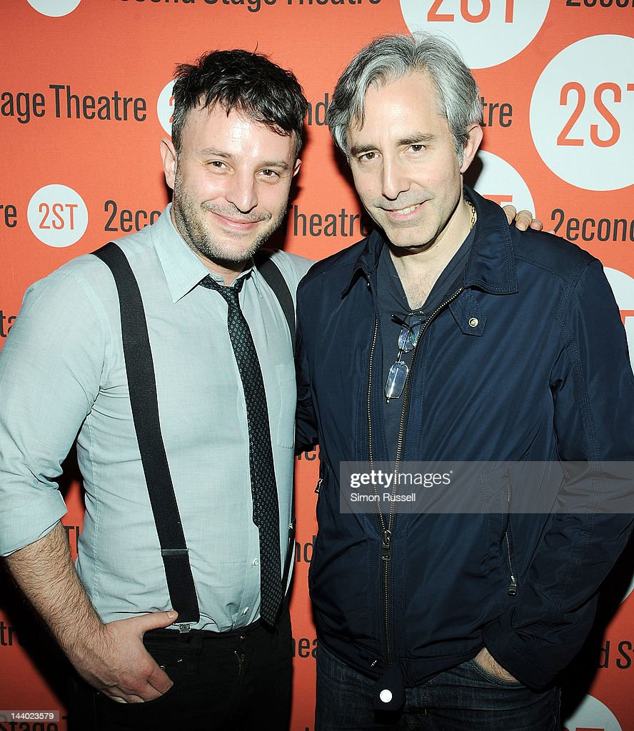 Trip Cullman and Paul Weitz attend 'Lonely I'm Not' Off Broadway Opening Night at HB Burger on May 7, 2012 in New York City.
