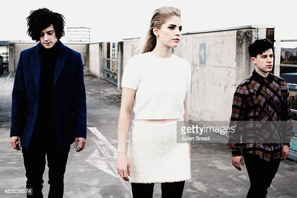 Trip hop trio London Grammar are photographed for the Observer on November 12 2013 in London England