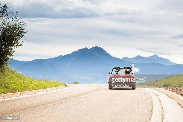 Fahrt in ein cabriolet