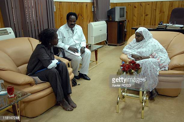 Trip of HE Rama Yade Secretary of State on foreign affairs and human rights in Khartoum Sudan on October 21 2007 On the right of her Mrs Samia Ahmed...
