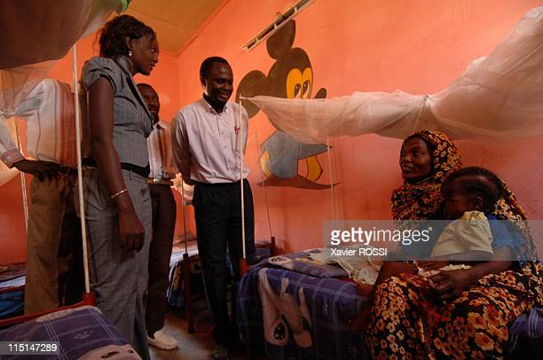 Trip of HE Rama Yade Secretary of State on foreign affairs and human rights in Khartoum Sudan on October 21 2007 In the hospital Teaching Hospital in...