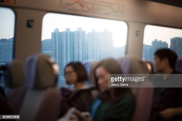 Trip on the Airport Express Train Hong Kong