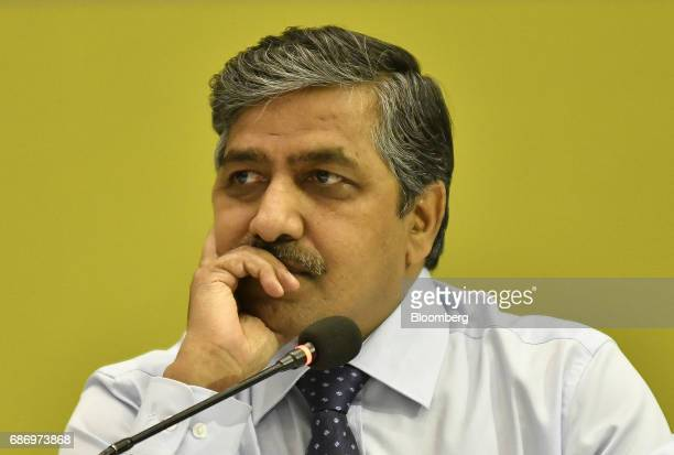 BC Tripathi chairman and managing director of GAIL India Ltd pauses during a news conference in New Delhi India on Monday May 22 2017 Shares of Gail...