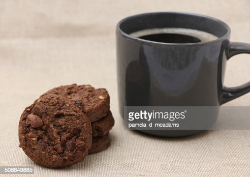 Triple Chocolate Cookies : Stock Photo