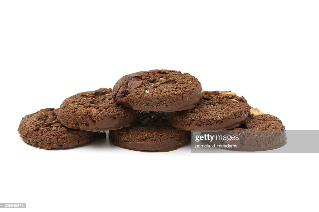 Triple Chocolate Cookies : Stock Photo