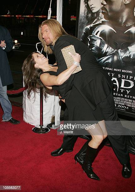 Triple H and wife Stephanie McMahon during 'Blade Trinity' Los Angeles Premiere Arrivals at Grauman's Chinese Theater in Hollywood California United...