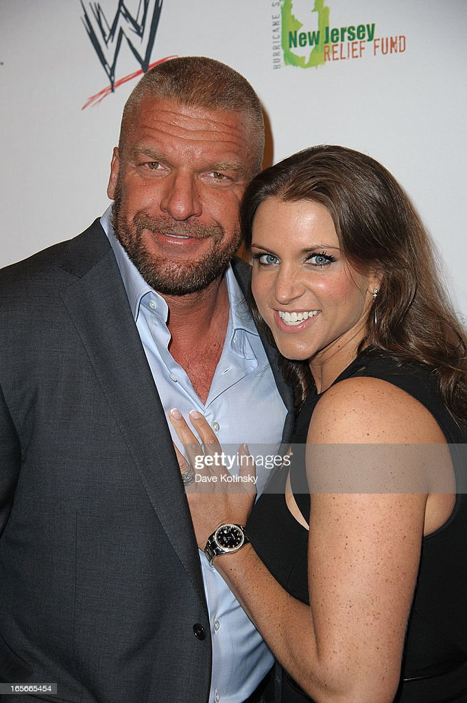 'Triple H' Levesque and <a gi-track='captionPersonalityLinkClicked' href=/galleries/search?phrase=Stephanie+McMahon&family=editorial&specificpeople=2647436 ng-click='$event.stopPropagation()'>Stephanie McMahon</a> Levesque attends the Superstars For Sandy Relief at Cipriani Wall Street on April 4, 2013 in New York City.