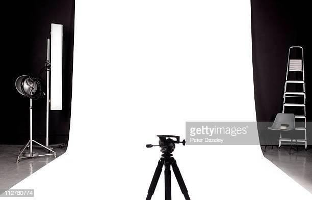 Tripod in photographers studio