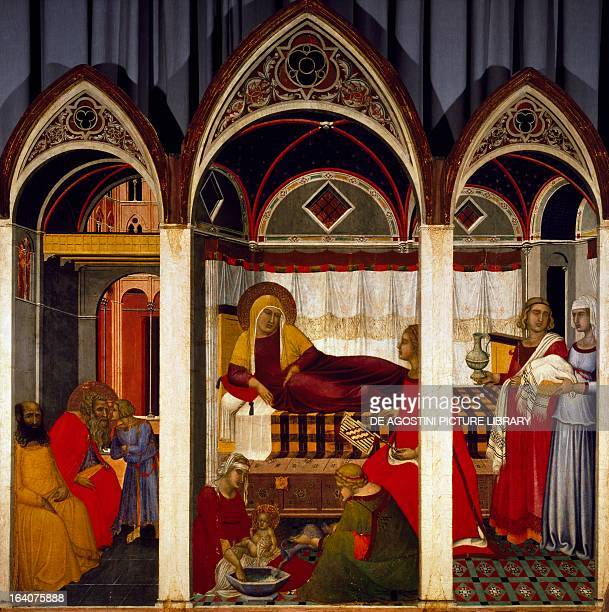 Triptych of the Birth of the Virgin by Pietro Lorenzetti tempera on wood 187x182 cm Siena Museo Dell'Opera Metropolitana