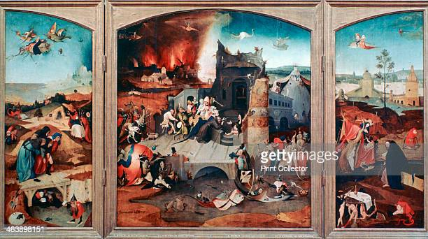 'Triptych of the Temptation of St Anthony' c14801516 Found in the collection of the Musees Royaux des BeauxArts de Belgique Brussels Belgium