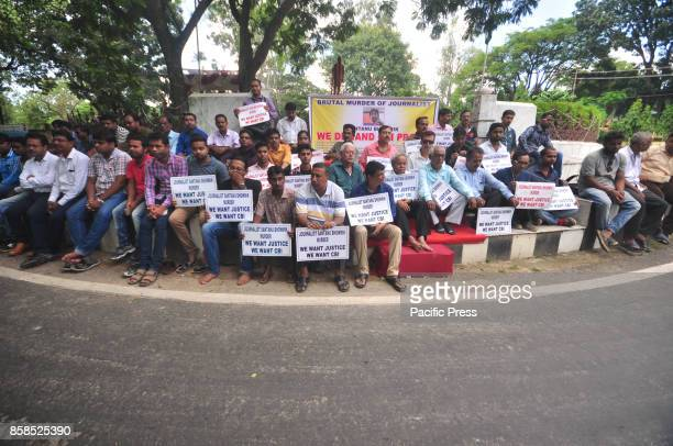 Tripura journalist have agitated in demand of CBI investigation in journalist Santanu murder case who was killed in a political clash at Mandai...