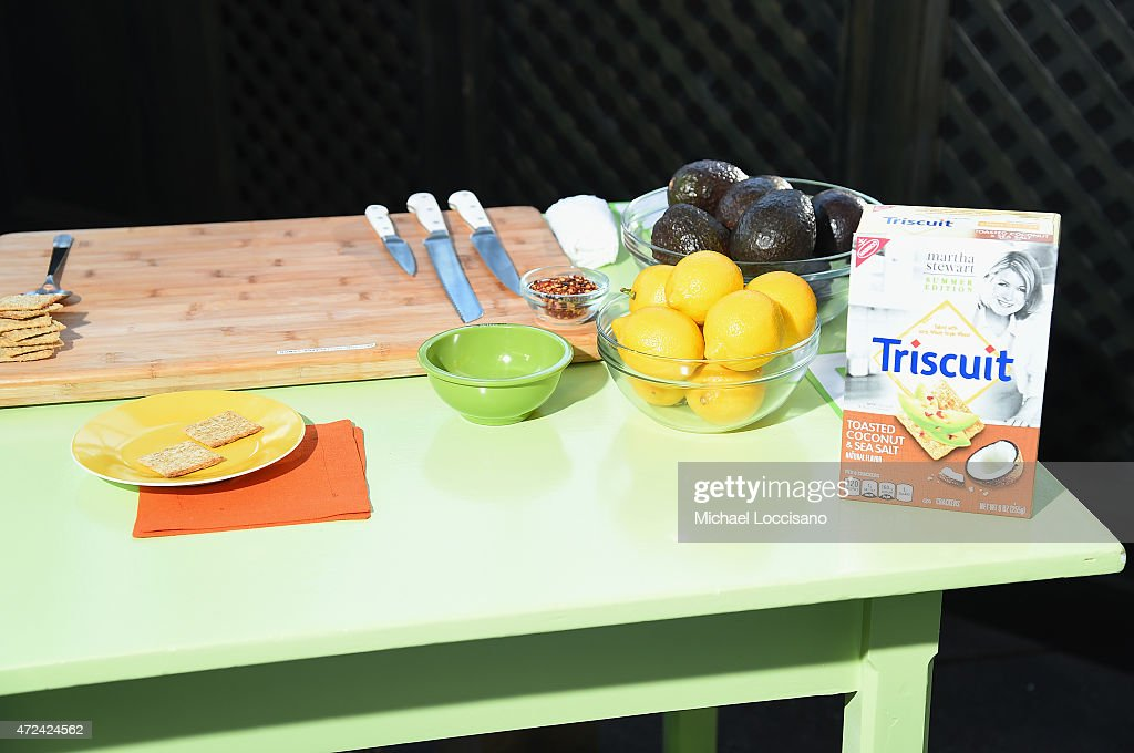 Triscuit partners with Martha Stewart to unveil Limited Edition Triscuit Flavor at Gramercy Park Hotel on May 6, 2015 in New York City.