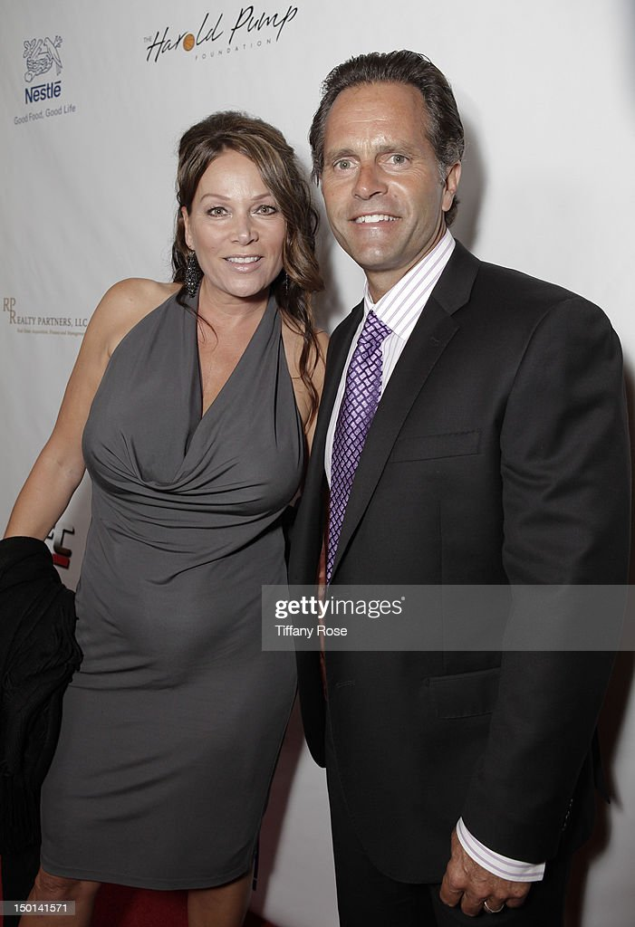 Trish Maly and former MLB player Eric Karros attend the 12th Annual Harold Pump Foundation Gala at the Hyatt Regency Century Plaza on August 10, 2012 in Century City, California.
