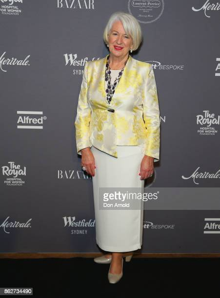 Trish O'Brien arrives ahead of BAZAAR in Bloom at The Ivy on October 18 2017 in Sydney Australia