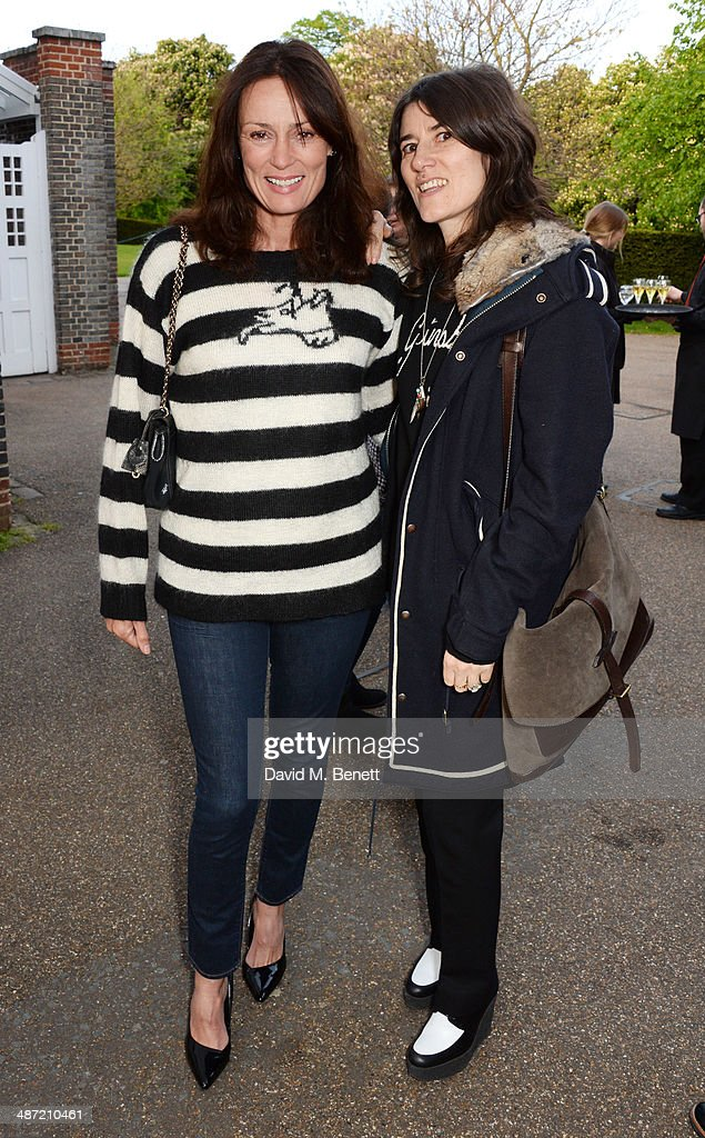 Trish Simonon (L) and Bella Freud attend the launch of 'Serpentine', a new fragrance by The Serpentine Gallery and fashion house Comme des Garcons featuring packaging artwork by Tracey Emin, at The Serpentine Gallery on April 28, 2014 in London, England.
