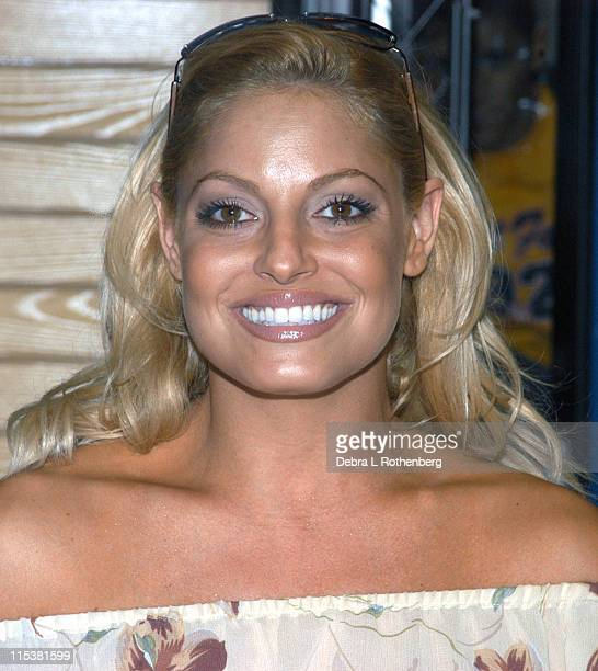 Trish Stratus during WWE Raw Superstars Raise Funds For Families of Fallen Soldiers at FYE Rockefeller Plaza in New York City New York United States