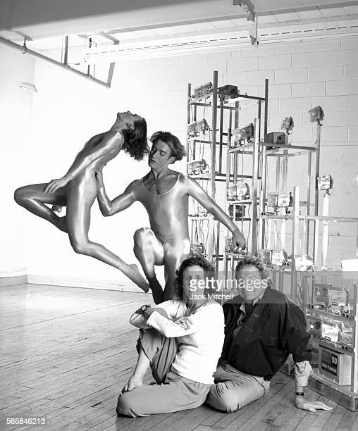 Trisha Brown and artist Robert Rauschenberg who created costumes sets and lighting for the company photographed in January 1989 Photo by Jack...