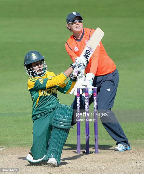 Trisha Chetty of South Africa bats during the NatWest Women's International T20 between England and South Africa at Edgbaston on September 7 2014 in...