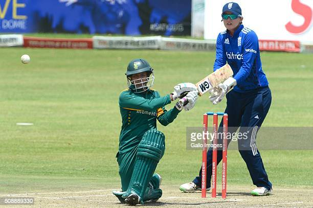 Trisha Chetty of South Africa during the One Day International match between South African Women and England Women at Willowmoore Park on February 07...