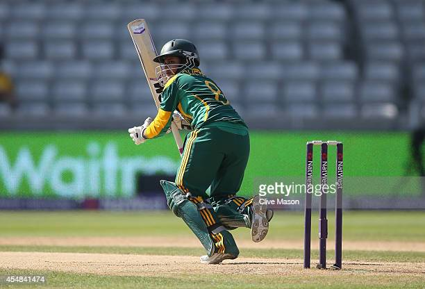 Trisha Chetty of South Africa in action batting during the NatWest Women's International T20 match between Engalnd Women and South Africa Women at...