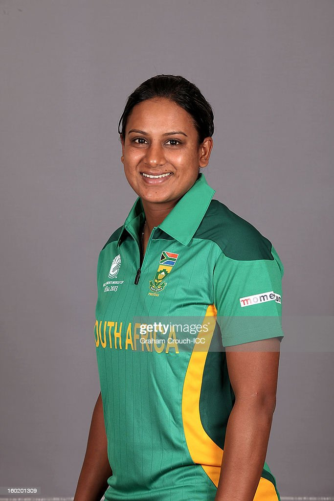 Trisha Chetty of South Africa poses at a portrait session ahead of the ICC Womens World Cup 2013 at the Taj Mahal Palace Hotel on January 27, 2013 in Mumbai, India.