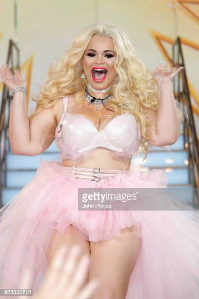 Trisha Paytas enters the Big Brother House for the Celebrity Big Brother launch at Elstree Studios on August 1 2017 in Borehamwood England