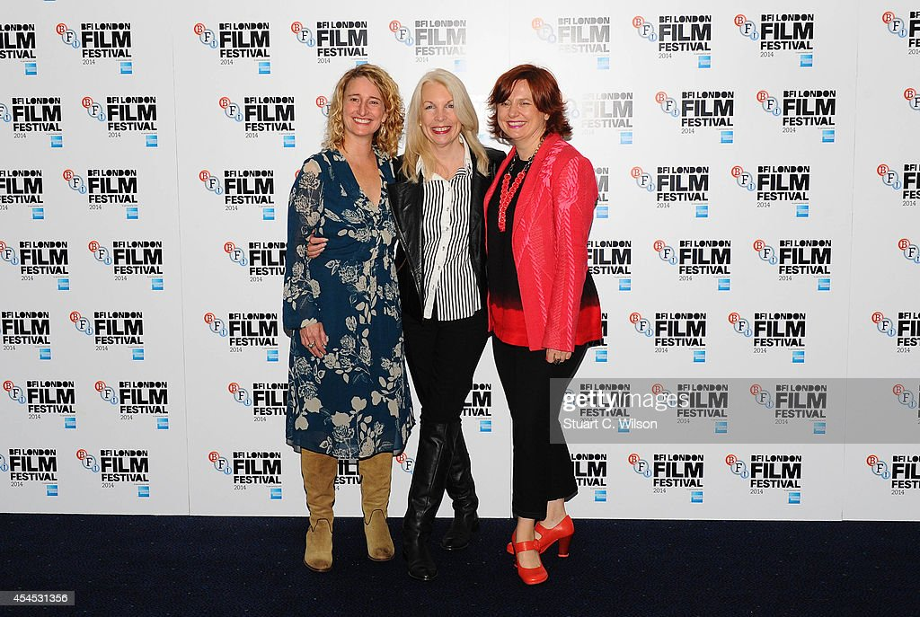 Trisha Tuttle, Amanda Nevill and Clare Stewart attend the BFI London Film Festival press launch at Odeon Leicester Square on September 3, 2014 in London, England.