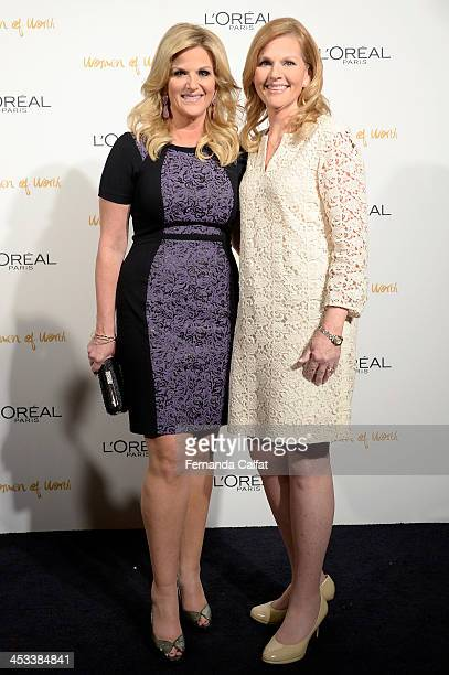 Trisha Yearwood and Beth Bernarz attend L'Oreal Paris' Women of Worth 2013 at The Pierre Hotel on December 3 2013 in New York City