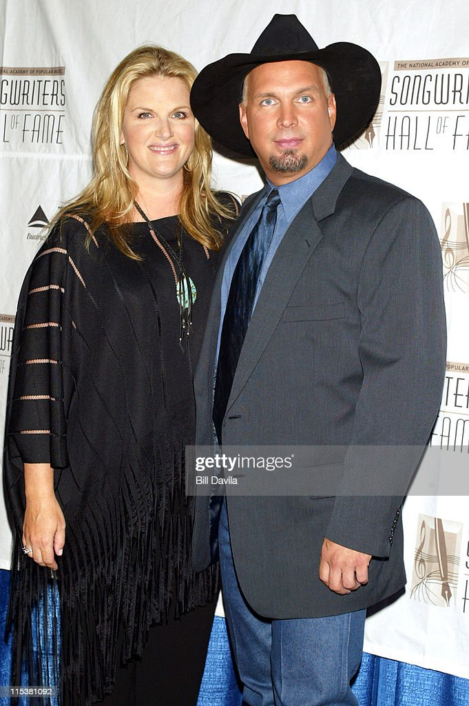 Trisha Yearwood and Garth Brooks during 33rd Annual Songwriters Hall of Fame Awards at Sheraton Hotel in New York City, New York, United States.